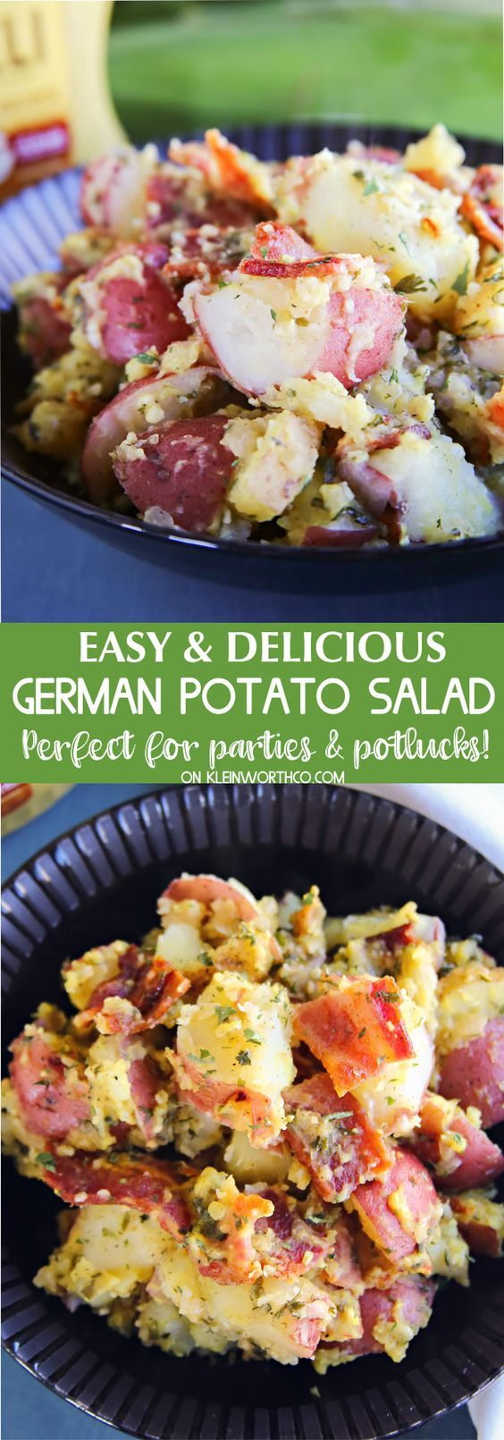 German Potato Salad ~ the perfect pairing with every BBQ favorite...spicy, tangy & delicious, this is THE recipe to bring to all of your summer parties and potlucks!