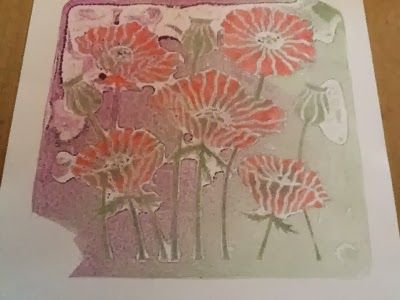 JR Crafts: It's been a Gelli weekend -- I removed the stencil and took my final print....I was really happy with the result, so I made it into a card.....I do hope that you like it too.