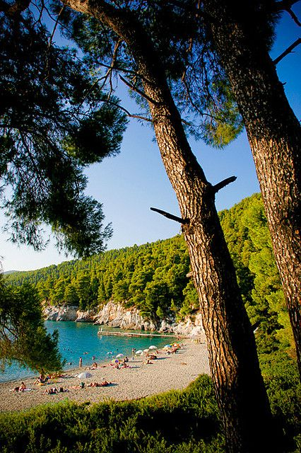 Beach in Skopelos - Kastani, Greece