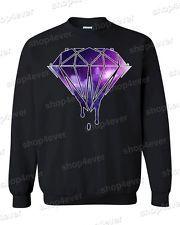 Illuminati Diamond Chain for Men   ... bleeding melting dripping diamond crewneck galaxy design sweater