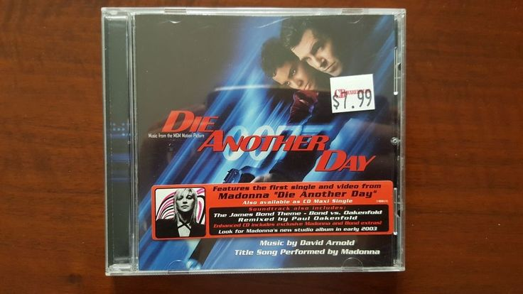 David Arnold Die Another Day (OST) CD US 48348-2 SEALED Madonna Rebel Heart Tour