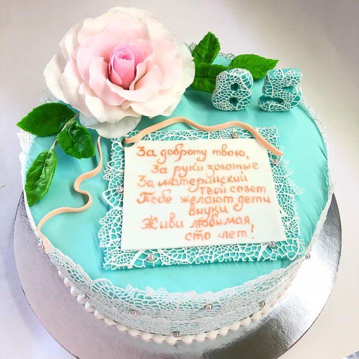 Красивые пожелания на торте
