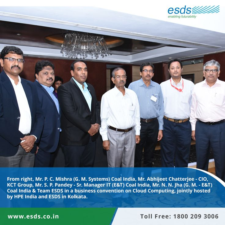 Coal India Limited and Team ESDS in a #business convention on #CloudComputing, Jointly hosted by HPE Converged Datacenter Infrastructure and ESDS in Kolkata.  #datacenter #technology #IT