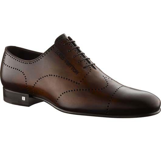 Louis Vuitton Mens Buenos Aires richelieu in waxed calf leather 5