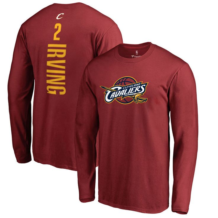 Kyrie Irving Cleveland Cavaliers Backer Long Sleeve T-Shirt - Wine
