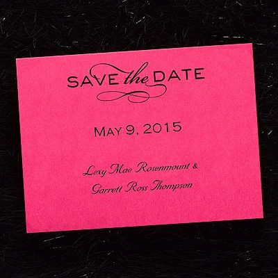 Tailored Horizontal Save the Date Card - Fuchsia 40% OFF  |  http://mediaplus.carlsoncraft.com/Wedding/Save-the-Dates/NB-NB1508H-Tailored-Horizontal--Save-the-Date-Card--Fuchsia.pro?pvc=&qty=0  |  NB1508H Tailor this fuchsia card to reflect your style by selecting one of the many design options available.