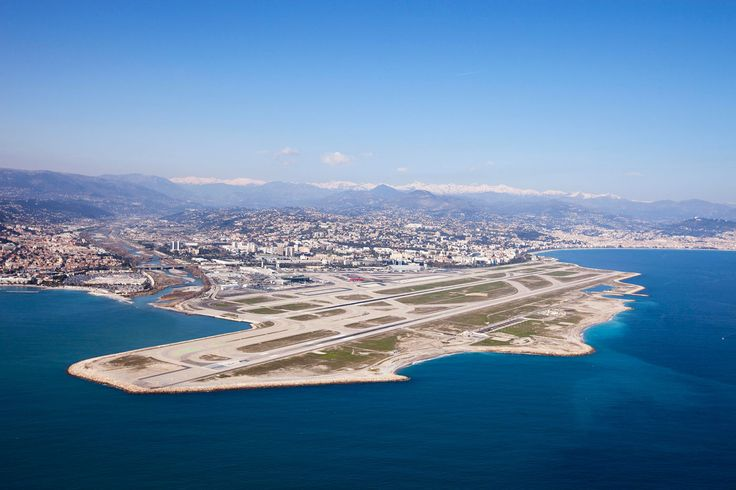 """What a """"nice"""" airport. Actually, I was told, it's pronounced """"neece."""" This was the Cote d'Azur Airport in Nice, France, where we flew in from England in 2009 on an Aer Lingus flight to see Virgile compete in an Ironman Triathlon."""