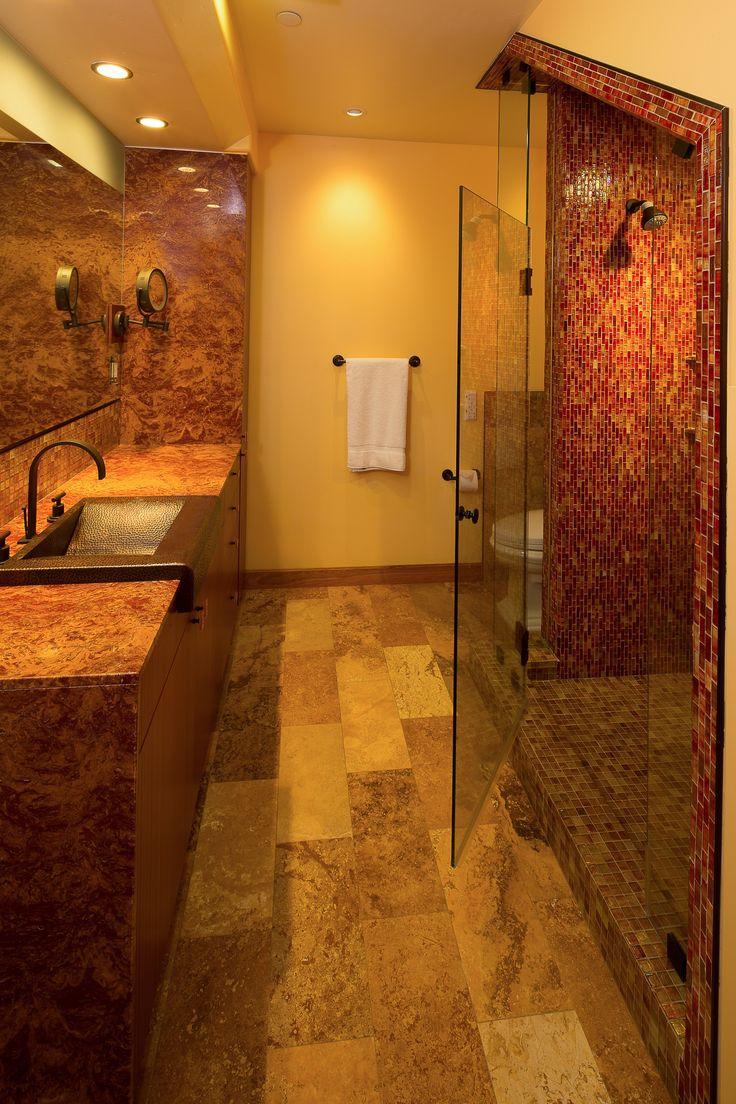 This Bathroom Features A Native Trails Palisades Copper Bathroom
