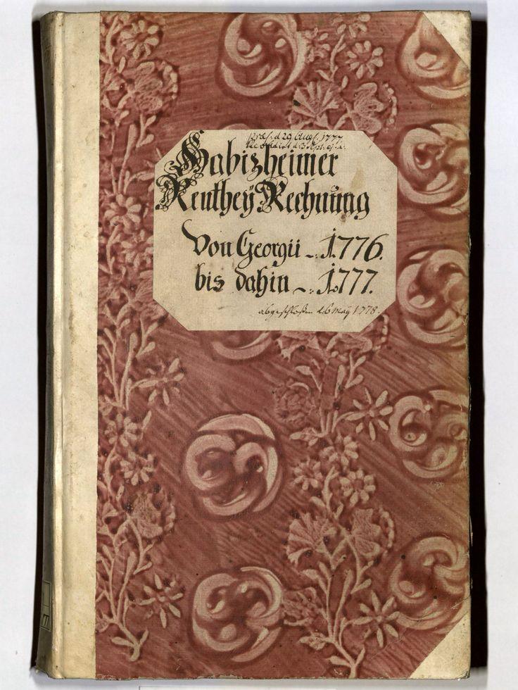 Kleisterpapier mit Verdrängungsdekor, 1776/77.
