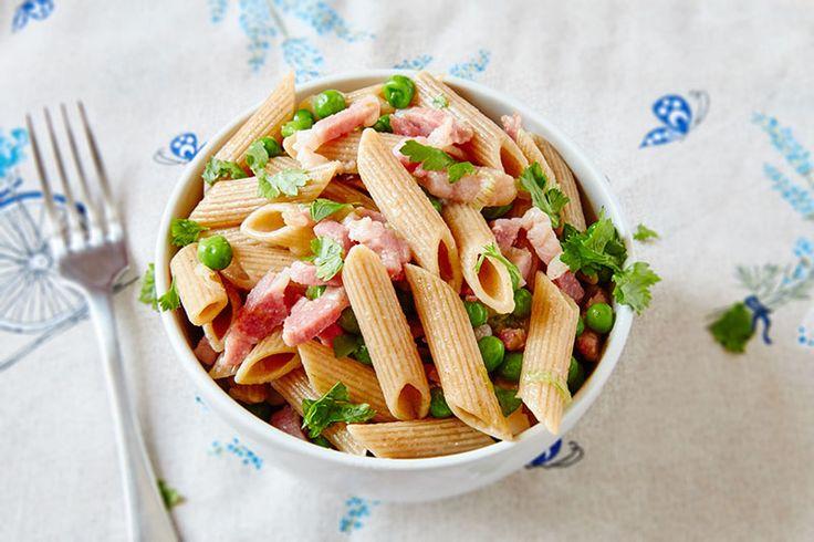 Pea and Pancetta Pasta