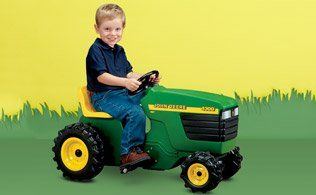 Frugal-Freebies.com: Classic Ride On Toy: John Deere, Steiger and More - From sit 'n scoots to pedal powered ride on toys, these tractors bring the country experience to life thanks to working lights, sounds and rugged tires. For little girls who appreciate the outdoors, the pink little rider with floral embellished basket is a must. Regardless, these toys are certain to provide hours of active fun.  Photo credit: MyHabit