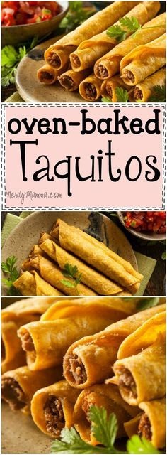 I love this recipe for taquitos baked in the oven. So easy--and sounds so TASTY!