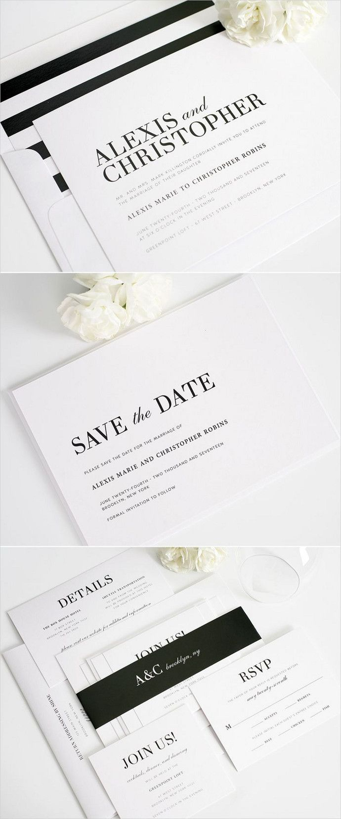 67 best Wedding Invitations images on Pinterest | Wedding stationary ...