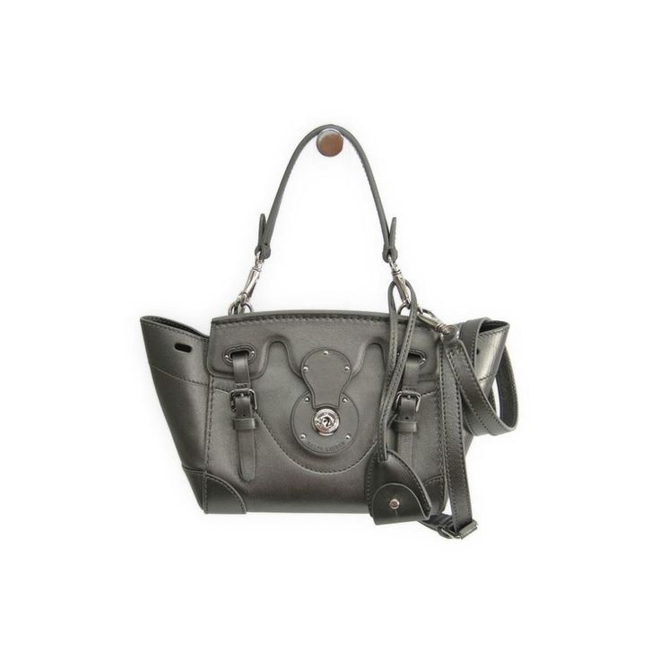 #ralphlauren Ricky Mini Women's Leather Handbag Metallic Gray