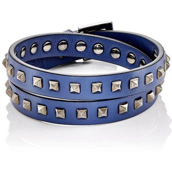 62ac81b28c51 Valentino Garavani Men s Rockstud Double-Wrap Bracelet ( 345) ❤ liked on  Polyvore featuring men s fashion