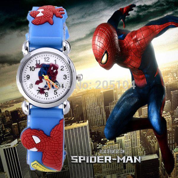 hot sale spiderman watch kids watches 3d rubber strap cartoon watch baby clock children's watches saat kid gift relogio relojes