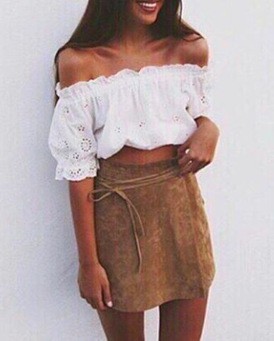 BARDOT TOPS & SUEDE SKIRTS