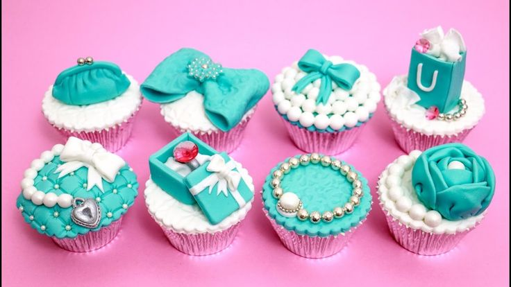 How To Make Luxury TIFFANY Cupcakes Cake Toppers by CakesStepbyStep
