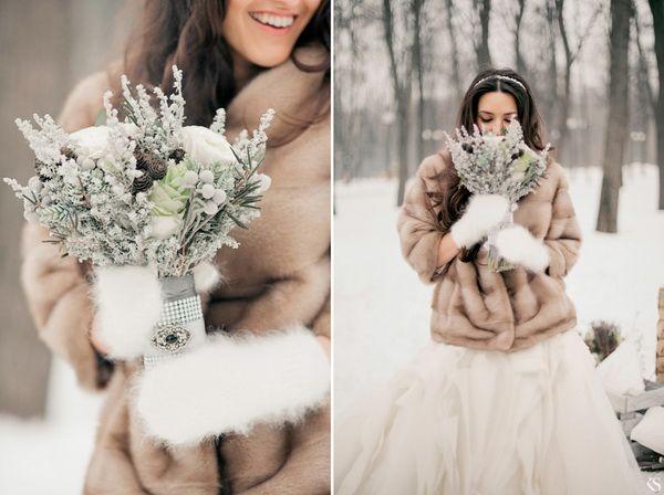 зимний свадебный букет невесты - Поиск в Google