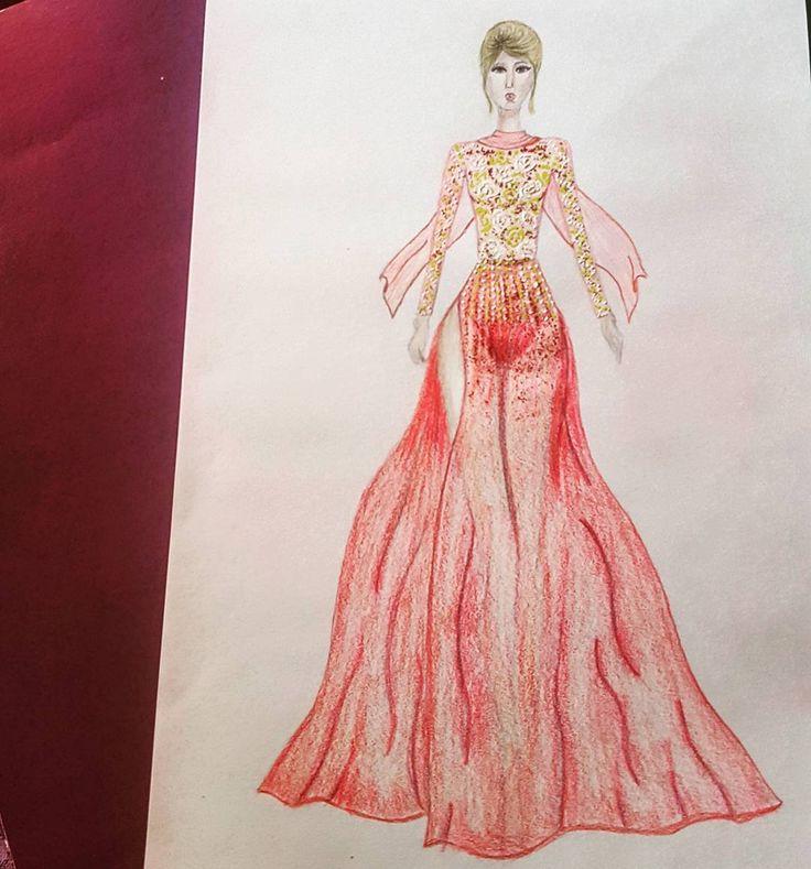 "24 aprecieri, 4 comentarii - C.A. (@c.a.ilustratii) pe Instagram: ""#fashion #fashionista #f4f #fashionart #princes #fashionillustration #designer #girl #hair #color…"""