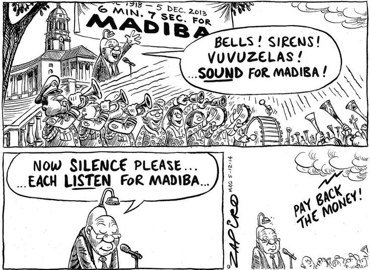 Zapiro: Madiba's take on Nkandla #Beautiful @myanc_ #PayBackTheMoney #ZumaHasResigned