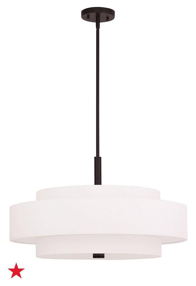 An elegant tiered light pendant immediately adds understated contemporary style to any room shop