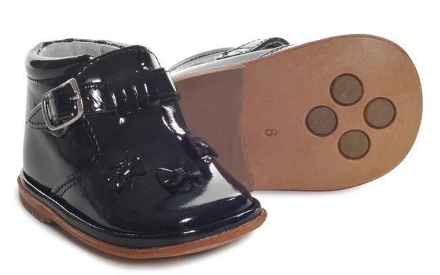 Baby Girls Black Patent Buckle Boot | Mariella