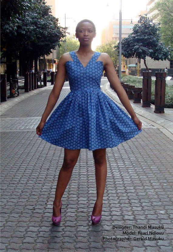 Shweshwe Summer Dress by ArtSchoolSnob on Etsy
