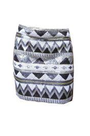 Aztec rokje zwart wit! #aztec #rokje #skirt #print