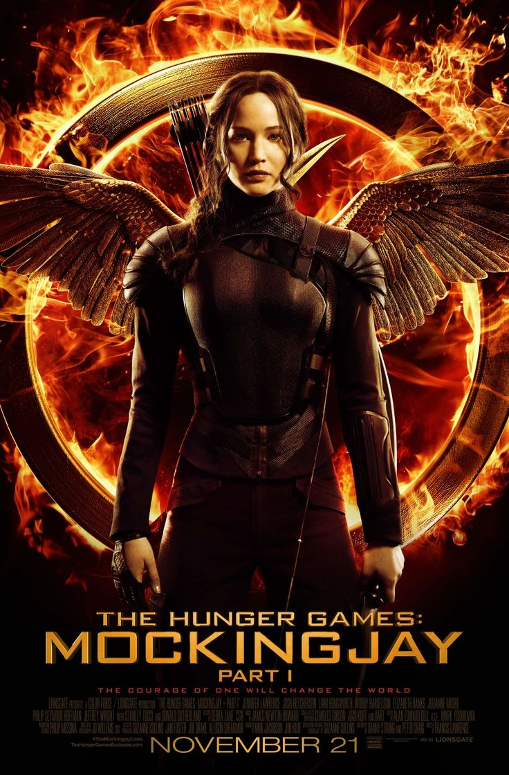 The Hunger Games: Mockingjay Part 1  Title: The Hunger Games: Mockingjay Part 1  Release Date: 21/11/2014  Genre: Adventure / Sci-Fi  Country: USA  Cast: Jennifer Lawrence, Josh Hutcherson, Liam Hemsworth, Woody Harrelson, Elizabeth Banks, Julianne Moore, Jeffrey Wright, Jena Malone, Sam Claflin, Philip Seymour Hoffman, Stef Dawson, Donald Sutherland & Willow Shields  Director: Francis Lawrence  Studio: Color Force  Distribution: Lionsgate