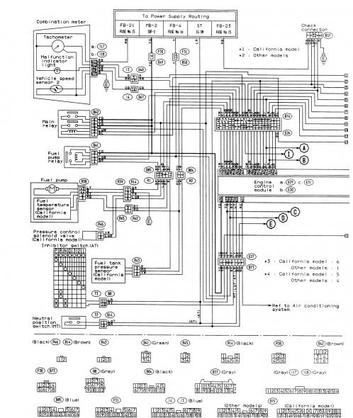 2007 subaru impreza wiring diagrams diagram schematic  subaru electrical diagrams #7