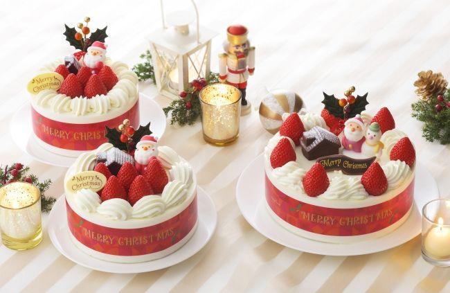 (左から)「苺サンドショート(4号)」「〃(5号)」、「〃(6号)」