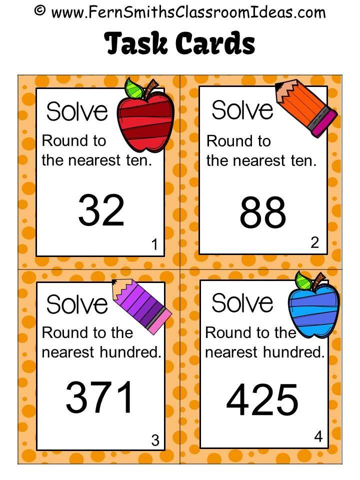 3rd Grade Go Math 12 Rounding To The Nearest Ten Or Hundred Task