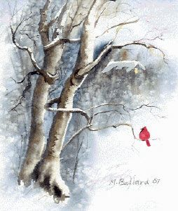 Great Tutorial-make your own christmas cards, watercolor winter christmas card, making your own cards, christmas