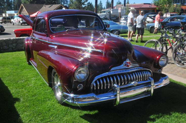 Late '40s Buick in Lake Tahoe - original photo by M Lee. It's before Buick picked up the port holes in '49.