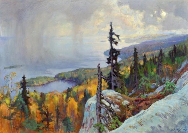Eero Järnefelt, Maisema Kolilta, 1930. Kuvaaja: Hannu Miettinen