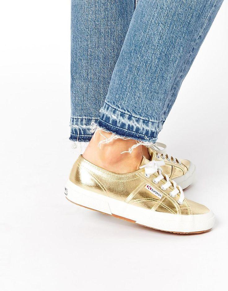 Zapatillas doradas Cotmetu de Superga