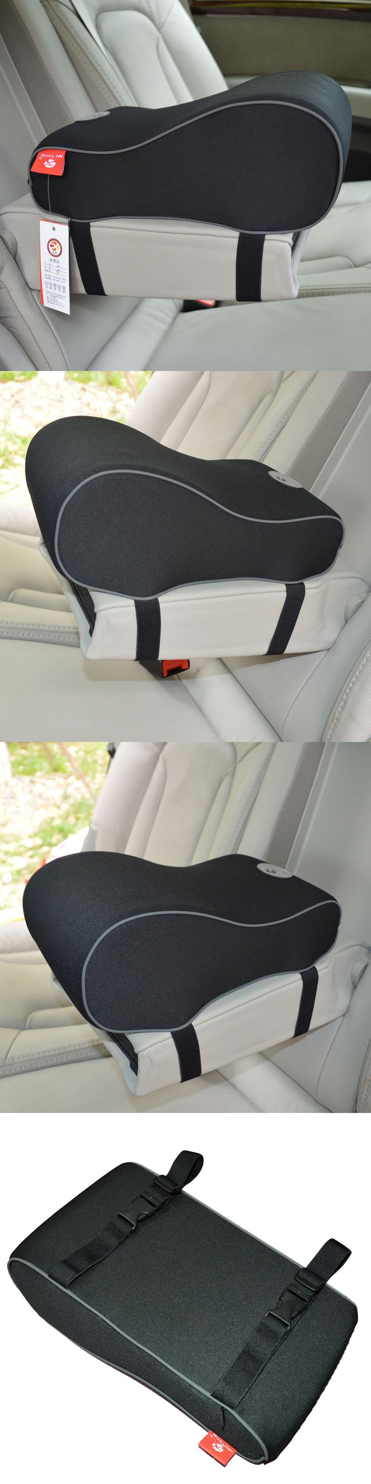 Wood swivel desk chair laquered finish warms amp padded seat ebay - Luxury Cars Luxury Cushion Car Seat Cushion Armrest Center Consoles Cushion Pillow Pad Black