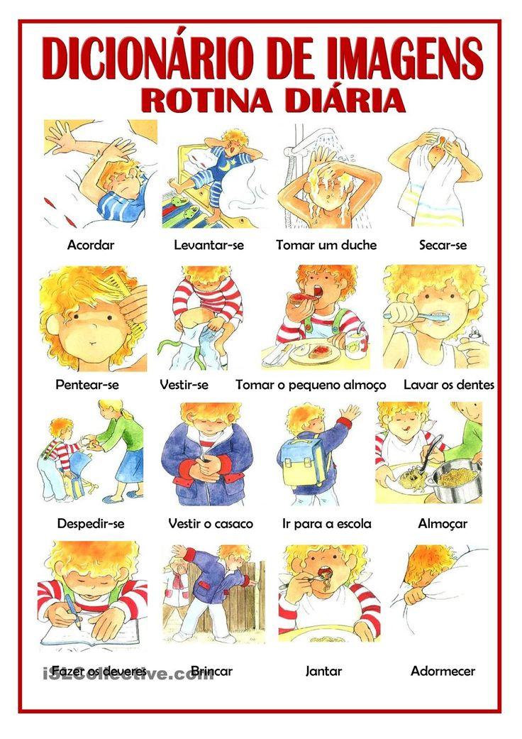 Portuguses vocabulary - Rotina diária / Daily routine …