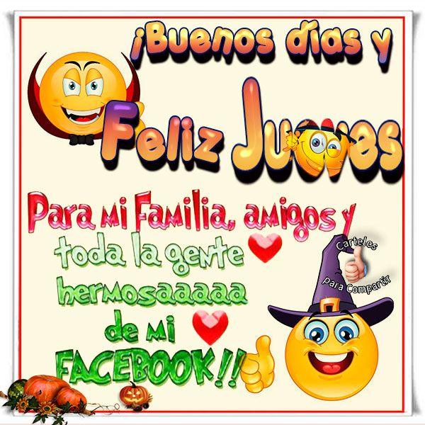 Buenos días un feliz #Jueves para mi familia, amigos y toda la gente hermosaaa de mi facebook.Saludos de Jueves para compartir con mis amigos