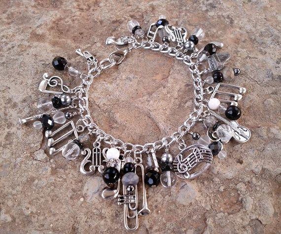Music Lover's Charm Bracelet by MistressJennie on Etsy, $50.00