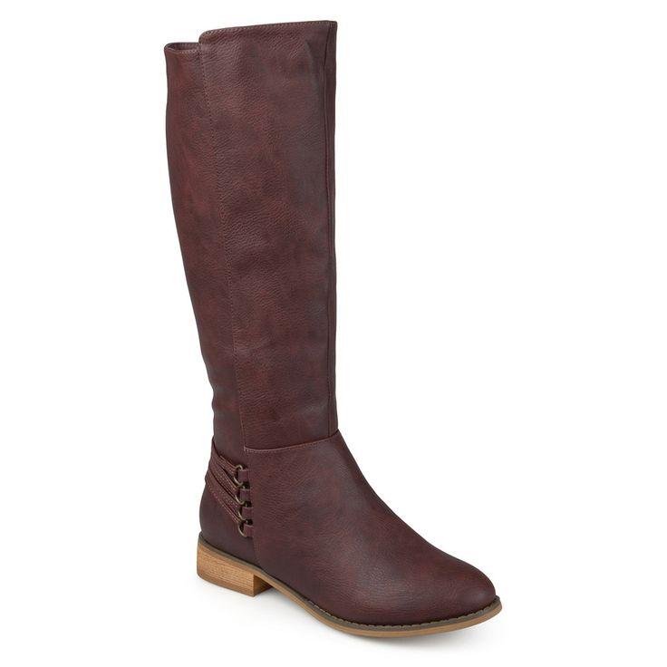 Journee Collection Marcel Women's Riding Boots, Size: medium (8.5), Dark Red
