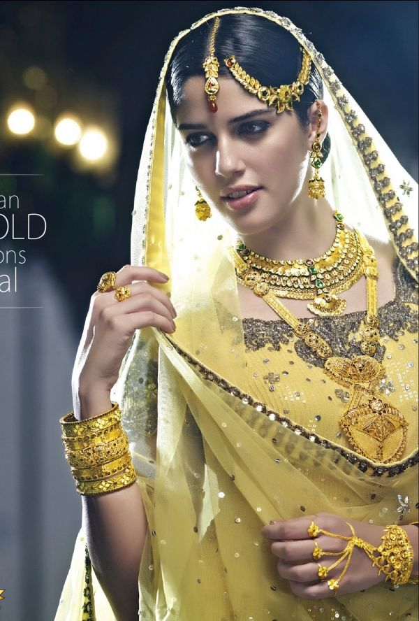 Izabelle Leite in intricately crafted, beautiful South Indian Bridal Jewellery by http://www.princejewellery.com/ Chennai  #Desi