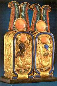 Perfume bottles, gold, lapiz lazuli, other semi precious stones
