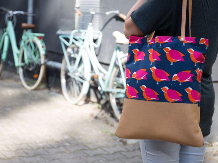 DIY-Anleitung: Trendigen Shopper mit Lederriemen nähen via DaWanda.com