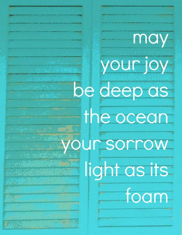 Poster Art Print of Turquoise Beach Cottage Shutters, Inspirational Beach Quote. Beach Home Decor - Ocean Joy. $16.00, via Etsy.
