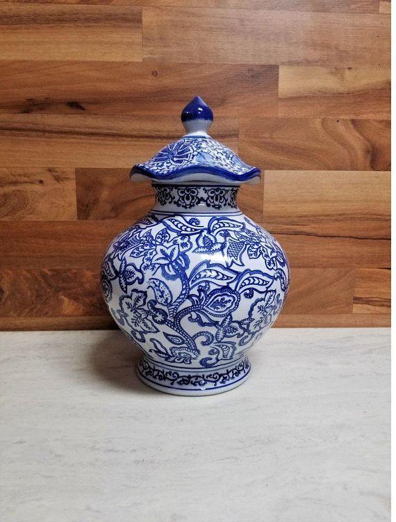 Oriental Porcelain Blue And White Chinese Vase Jar Masonjarvasesideas
