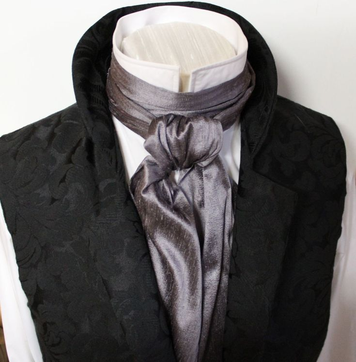 The cravat is ~52 inches in length, with a uniform width of ~6 inches. Description from etsy.com. I searched for this on bing.com/images
