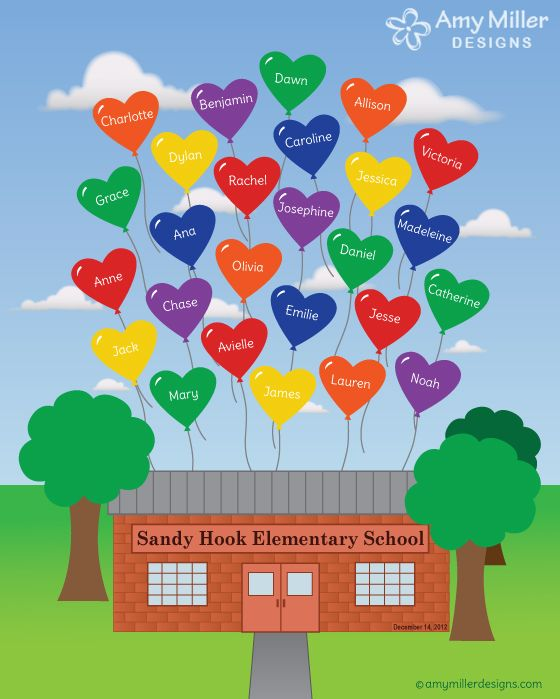 Sandy Hook Balloon Artwork by Amy Miller Designs