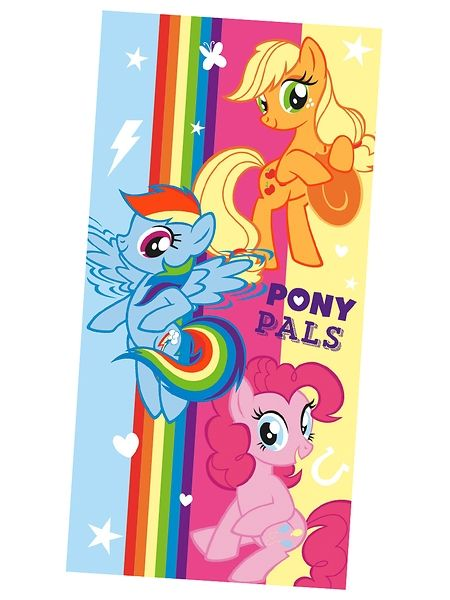 Värikäs My Little Pony -pyyhe herättää taatusti ihastusta uimarannalla tai -hallissa! Koko 70 x 140 cm. 100 % froteeta. Konepesu 60 asteessa.